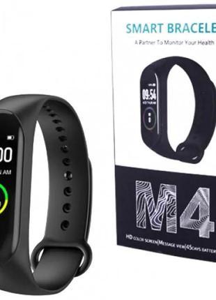 Умный фитнес браслет часы с пульсометром Smart band BBM M4, Но...