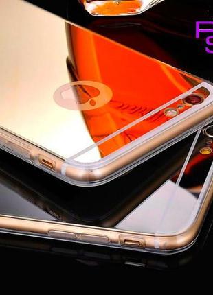 Зеркальный золотой чехол для смартфона телефона Iphone Айфон 5 5s