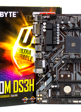 Материнская плата Gigabyte B450M DS3H (sAM4, AMD B450) Б.У.