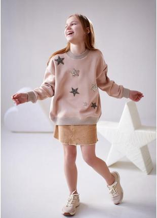 Свитшот на девочку со звездами