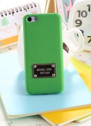 Пластиковый чехол Michael Kors Green Зеленый для IPhone 5/5s
