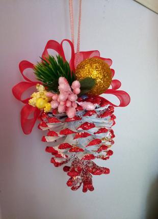 Новогоднее украшение, украшение на елку (Шишка)