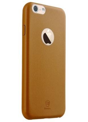 Кожаный чехол Baseus Thin коричневый для iPhone 6/6S