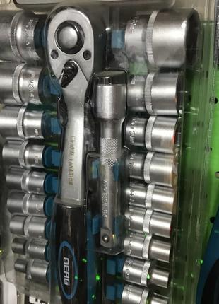 Набор головок с трещоткой 1/2 (8 32 мм), Cr-V, 20 предметов Berg