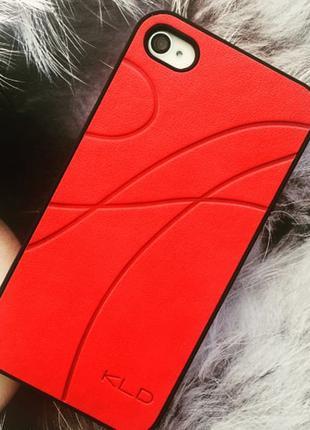Пластиковый чехол KLD Красный для IPhone 4/4s