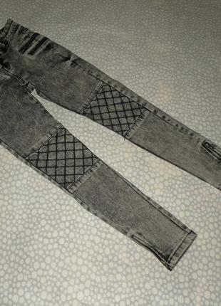Узкие джинсы skinny 8-9 лет