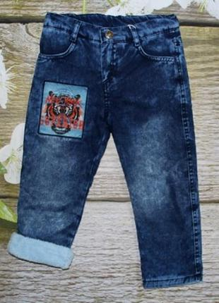 Утепленные джинсы на мальчика