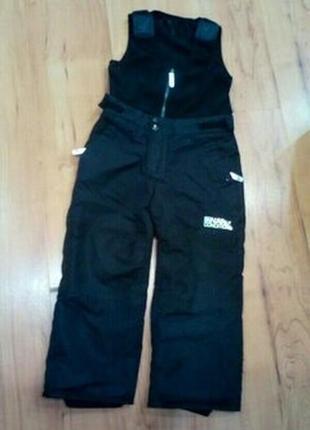 Лыжный полукомбинезон, зимние штаны на 4-5 лет