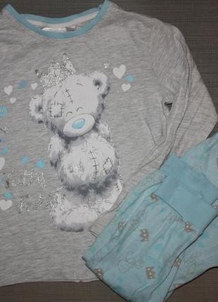 """Котоновя пижама ф.y&d """"тедди""""для ребенка 7/8лет ,отличное сост..."""