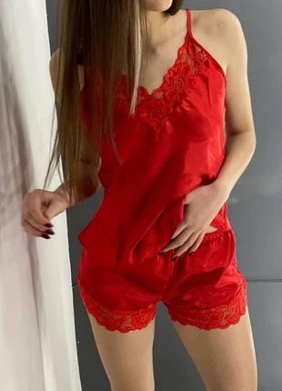 Женская шёлковая пижама майка шортики секси турция jasmine