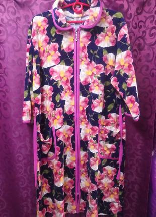 💖 женский велюровый халат батал халат батальных размеров 💖