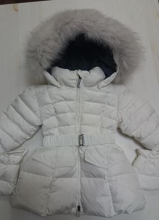 Add пуховое пальто. 6-9 месяцев