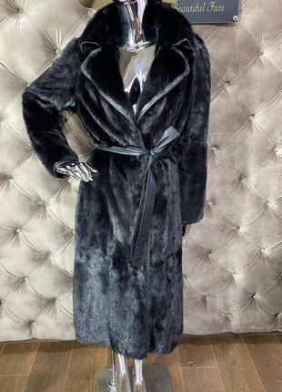 08.08 киев примерки! шуба норковая халат, длина 110см, размер ...