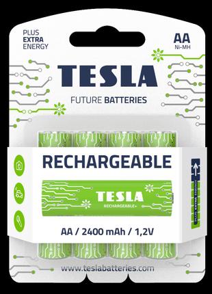 Аккумуляторы TESLA AA 2400 мАч Rechargeable+ 4шт.
