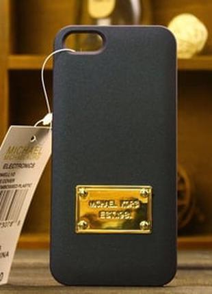 Пластиковый чехол Michael Kors Black Черный для IPhone 5/5s