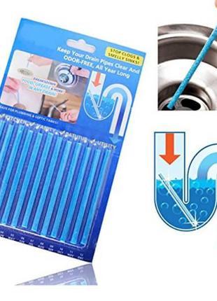 Палочки для очистки водосточных труб Sani Sticks упаковка 12 ш...