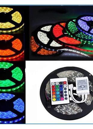 Светодиодная лента RGB 5050 +КОНТРОЛЛЕР+ПУЛЬТ+БЛОК ПИТАНИЯ. LED