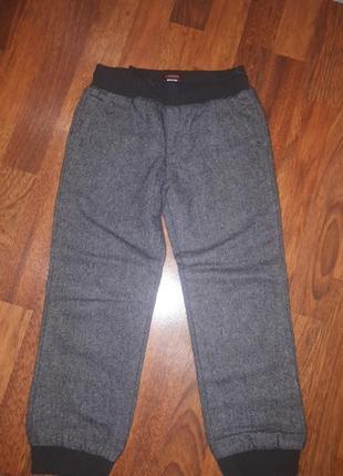 Теплые шерстяные штаны джогеры chicco 110