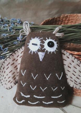 Мягкая игрушка-подвеска совушка