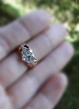 Кольцо серебро