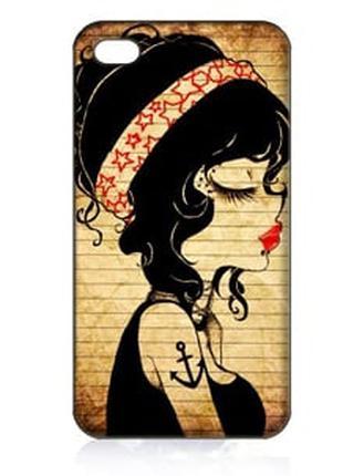 Чехол ультратонкий пластиковый эксклюзив Девушка для IPhone 5