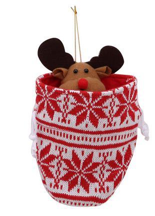 Рождественский Подарочный мешочек (чулок) для конфет, подарка