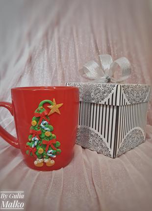 Подарочная чашка на Новый год