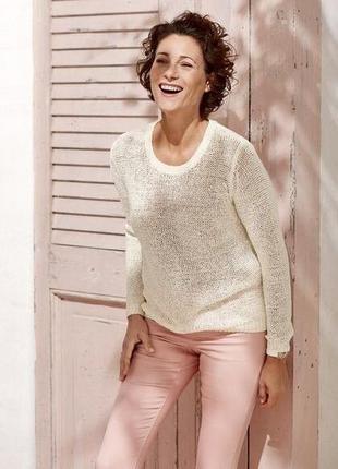 Белый свитер из ленточной пряжи l 44-46 esmara, германия