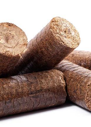 Продаём топливные брикеты из семечки, древесины, угля, сена
