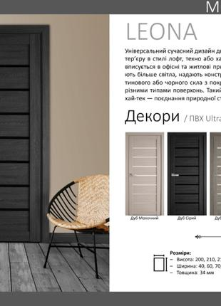 Двері Леона ПВХ Ультра Новий Стиль