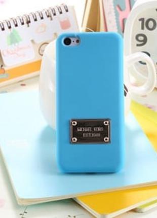 Пластиковый чехол Michael Kors Aqua Blue Голубой для IPhone 5/5s