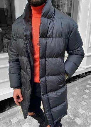 Удлиненная куртка пуховик