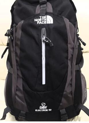 Туристический рюкзак The North Face 50 литров синий черный