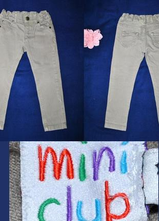 Фирменные зауженные джинсы на 2-3 года от mini club