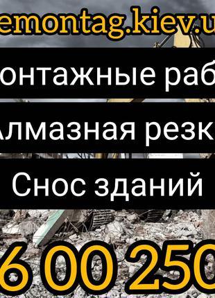 Демонтаж стен и перегоррдок в Киеве