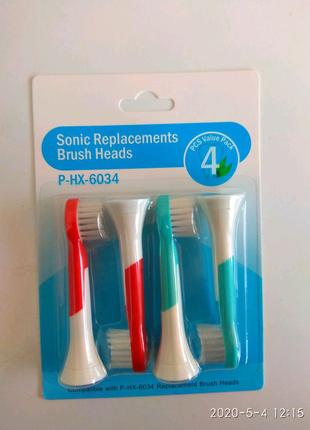 Насадки для детской зубной щетки Philips