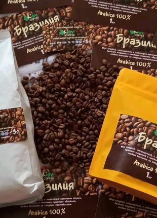 Бразилия Сантос натуральный кофе, молотый или в зернах есть купаж