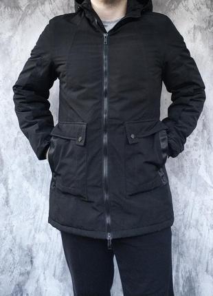 Мужская длинная куртка,парка, холодная весна-осень,еврозима,по...
