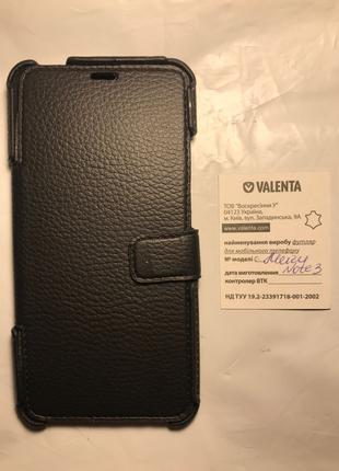 Чехол книжка Meizu Note 3 кожа Valenta