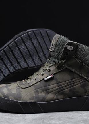 ► puma desierto sneaker, хаки  зимние мужские кроссовки 31694