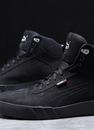► puma desierto sneaker, черные  зимние мужские кроссовки 31693