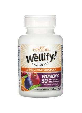 21st Century, Wellify, мультивитамины для женщин 50+