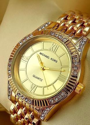Женские наручные часы michael kors a152-1 золотого цвета с зол...