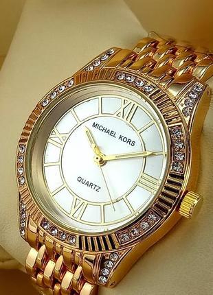 Женские наручные часы michael kors a152-1 золотого цвета с сер...
