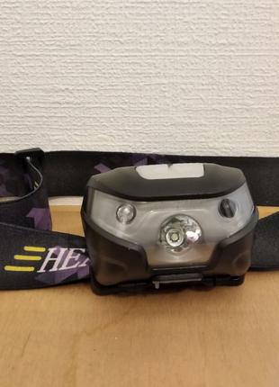 Налобный фонарик с датчиком движения. USB