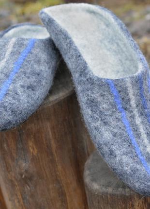 Тапочки валянные мужские из натуральной шерсти на заказ