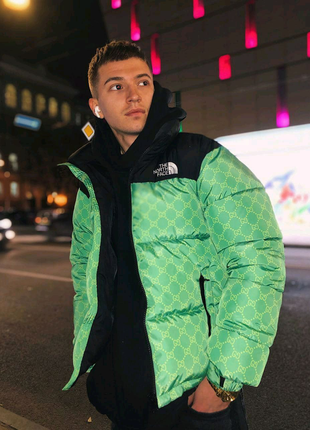 Зимний пуховик The North Face&Gucci