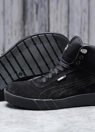 ► puma desierto sneaker, черные зимние мужские кроссовки 31692