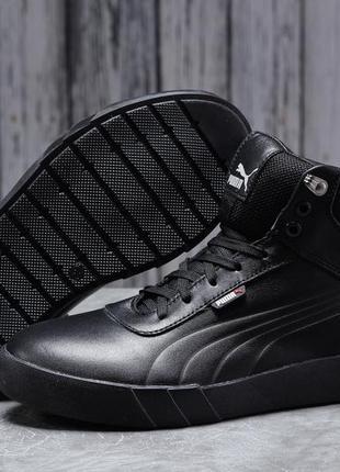 ► puma desierto sneaker, черные зимние мужские кроссовки 31691