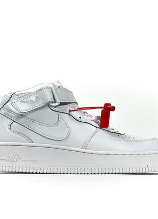 Nike air force 1 high white (мех)